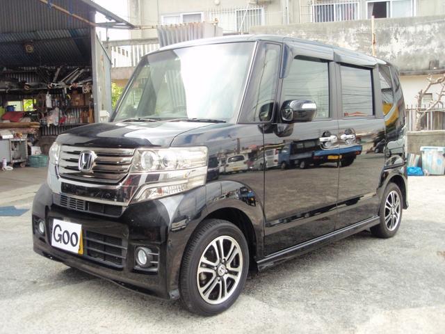 沖縄の中古車 ホンダ N-BOXカスタム 車両価格 99万円 リ済込 2013(平成25)年 2.2万km ブラック