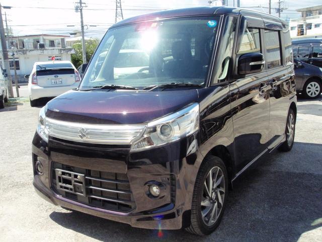 沖縄県の中古車ならスペーシアカスタム TSタ・インタークーラーターボ・レーダーブレーキ