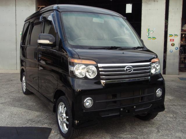 沖縄の中古車 ダイハツ アトレーワゴン 車両価格 69万円 リ済込 2011(平成23)年 7.3万km ブラック