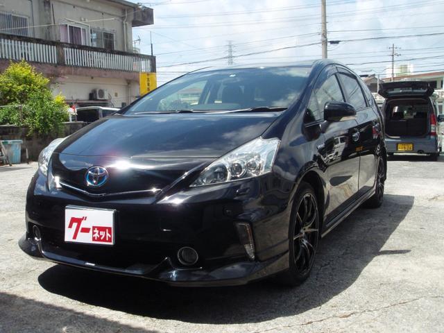 沖縄の中古車 トヨタ プリウスアルファ 車両価格 125万円 リ済込 2013(平成25)年 9.0万km ブラック