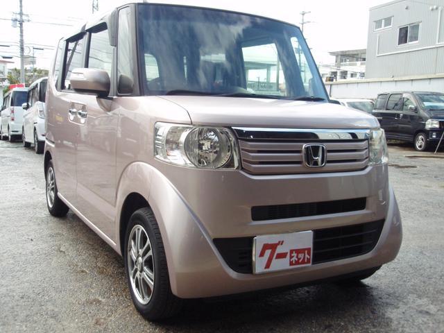 沖縄の中古車 ホンダ N-BOX 車両価格 75万円 リ済込 2013(平成25)年 7.5万km ピンク