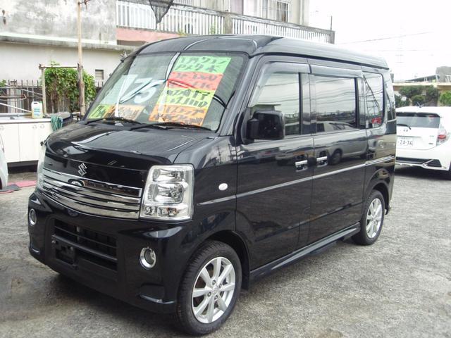 沖縄の中古車 スズキ エブリイワゴン 車両価格 69万円 リ済込 2013(平成25)年 12.1万km ブラックM