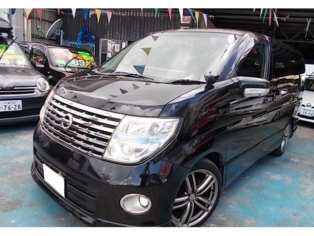 沖縄の中古車 日産 エルグランド 車両価格 45万円 リ済別 2007(平成19)年 13.0万km ミスティックブラックRP
