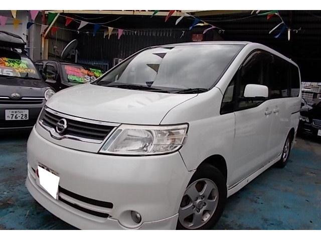 沖縄の中古車 日産 セレナ 車両価格 29万円 リ済別 平成17年 13.0万km ホワイトパール