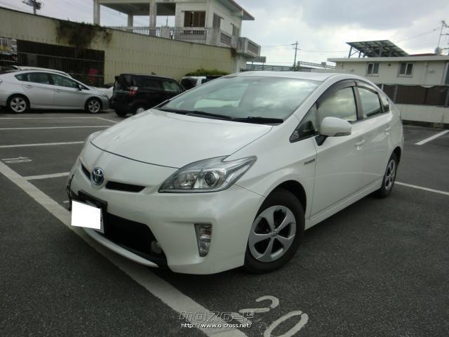沖縄の中古車 トヨタ プリウス 車両価格 75万円 リ済別 2013(平成25)後 10.6万km パール