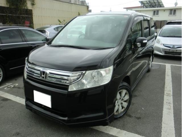 沖縄の中古車 ホンダ ステップワゴン 車両価格 55万円 リ済別 2010(平成22)年 14.2万km ブラックM