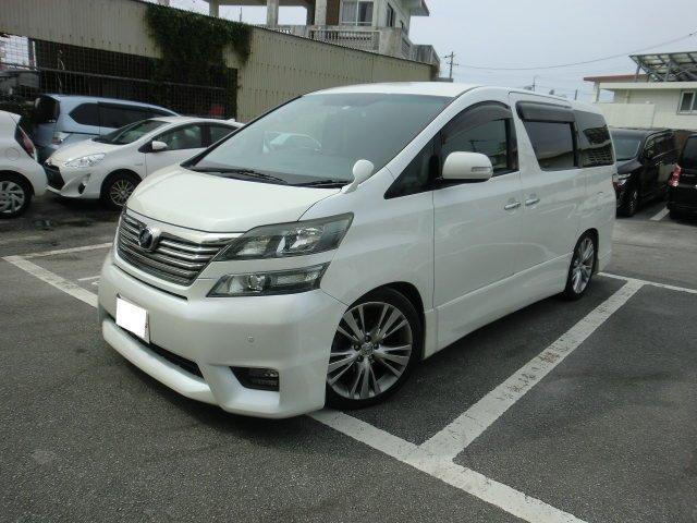 沖縄の中古車 トヨタ ヴェルファイア 車両価格 129万円 リ済別 2008(平成20)年 15.2万km パールホワイト