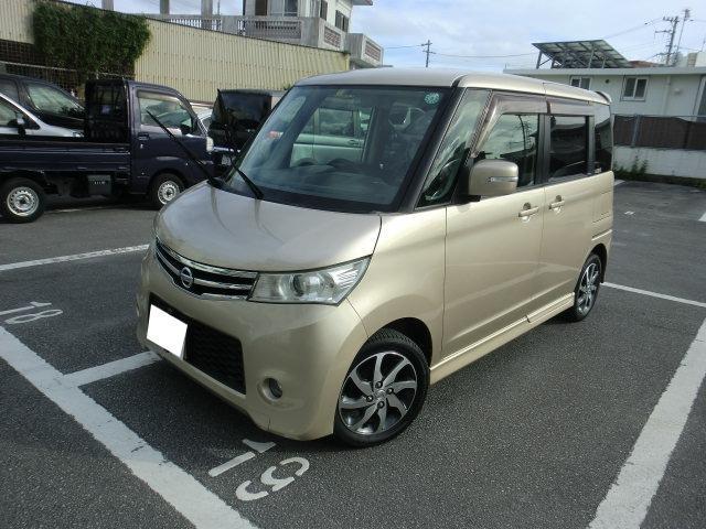 沖縄の中古車 日産 ルークス 車両価格 49万円 リ済別 2012(平成24)年 11.3万km ゴールド