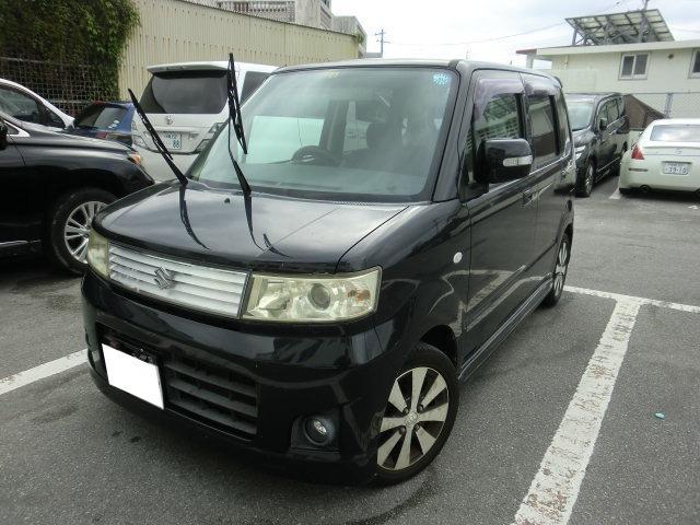 沖縄の中古車 スズキ ワゴンR 車両価格 18万円 リ済別 2008(平成20)年 14.8万km ブラック