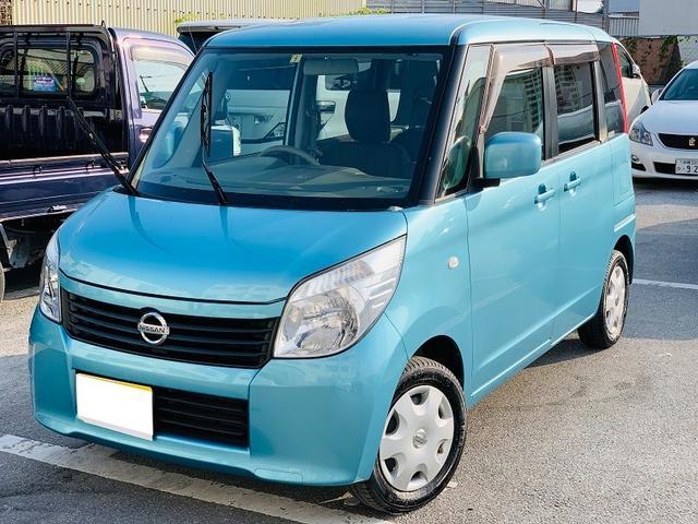 沖縄の中古車 日産 ルークス 車両価格 39万円 リ済別 2012(平成24)年 14.2万km ライトブルー
