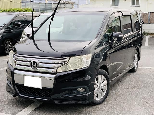 沖縄の中古車 ホンダ ステップワゴンスパーダ 車両価格 49万円 リ済別 2010(平成22)年 14.9万km ブラックM