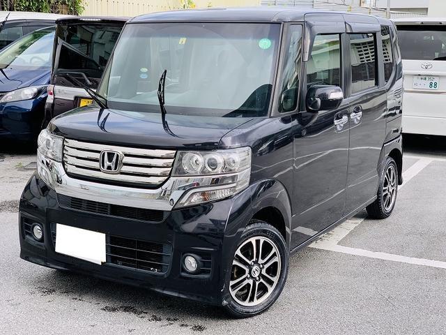 沖縄の中古車 ホンダ N-BOXカスタム 車両価格 69万円 リ済別 2013(平成25)年 11.5万km ブラック