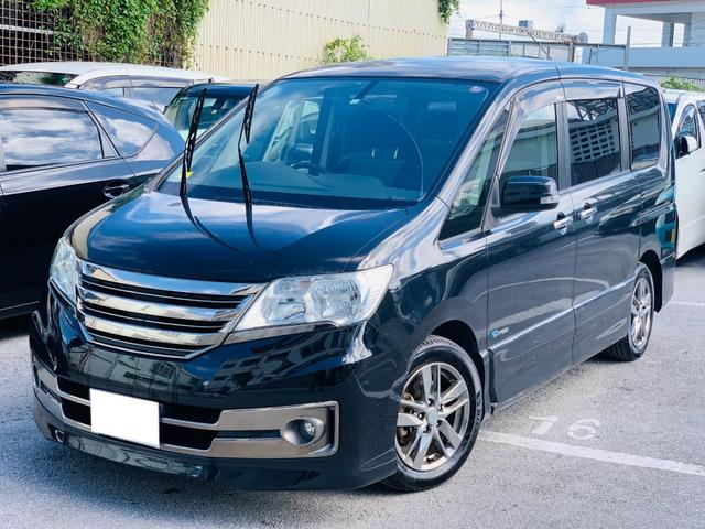 沖縄の中古車 日産 セレナ 車両価格 65万円 リ済別 2012(平成24)年 14.4万km ブラック