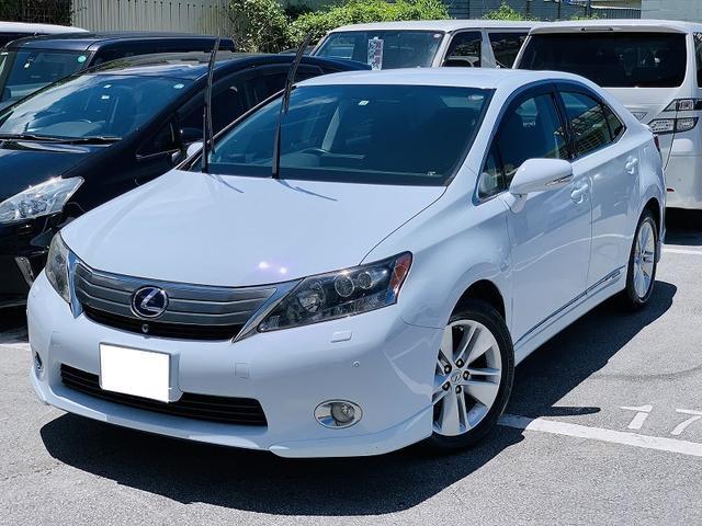沖縄の中古車 レクサス HS 車両価格 79万円 リ済別 2010(平成22)年 13.7万km パールホワイト