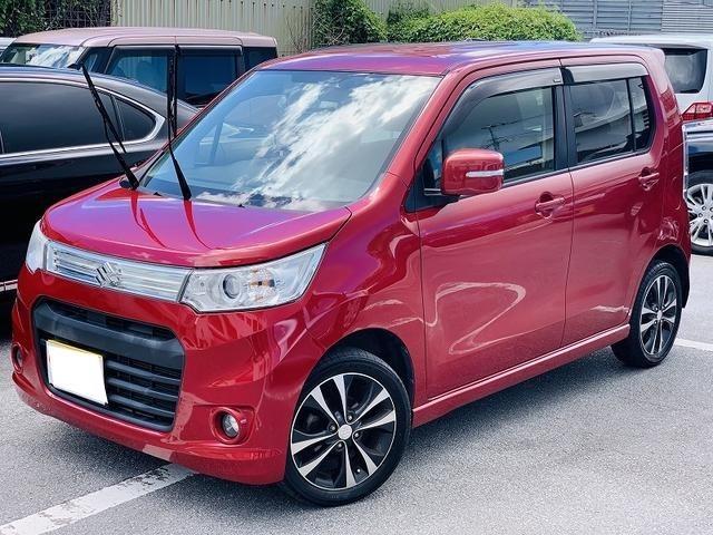 沖縄の中古車 スズキ ワゴンRスティングレー 車両価格 49万円 リ済別 2013(平成25)年 9.6万km レッド
