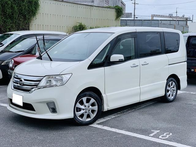 沖縄の中古車 日産 セレナ 車両価格 59万円 リ済別 2012(平成24)年 11.0万km パール