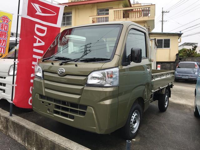 沖縄の中古車 ダイハツ ハイゼットトラック 車両価格 ASK リ未 新車  カーキ