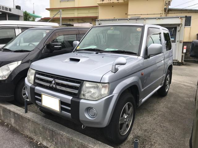 沖縄の中古車 三菱 パジェロミニ 車両価格 55万円 リ済込 2008(平成20)年 10.1万km シルバー