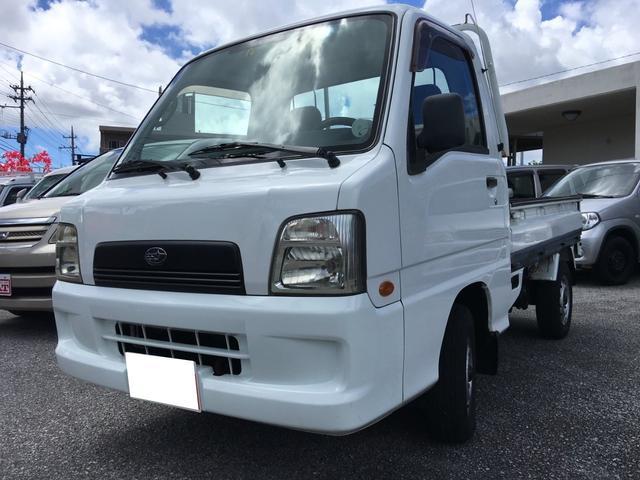 沖縄の中古車 スバル サンバートラック 車両価格 48万円 リ済込 平成16年 9.4万km ホワイト