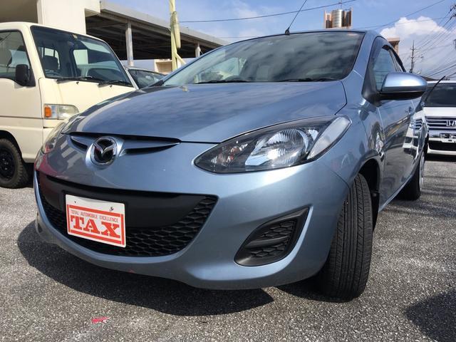 沖縄の中古車 マツダ デミオ 車両価格 69万円 リ済込 平成25年 3.5万km ライトブルー