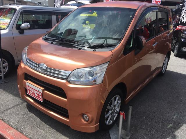沖縄の中古車 ダイハツ ムーヴ 車両価格 74万円 リ済別 平成23年 7.4万km オレンジ
