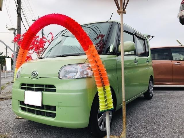 沖縄の中古車 ダイハツ タント 車両価格 55万円 リ済込 2012(平成24)年 7.1万km グリーン