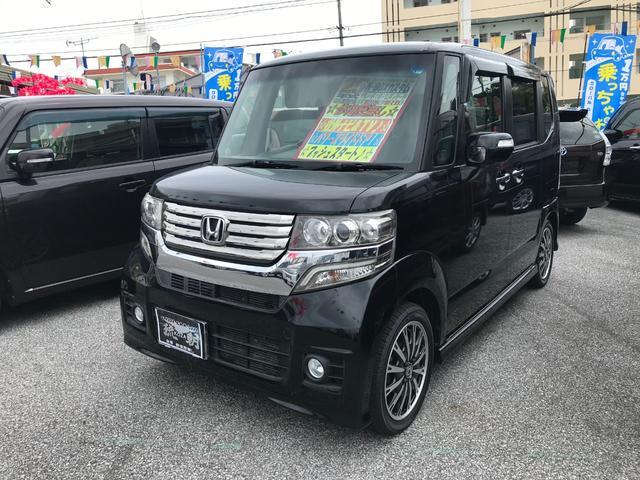 沖縄の中古車 ホンダ N-BOXカスタム 車両価格 109万円 リ済込 2013(平成25)年 6.0万km ブラック