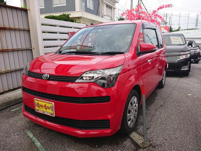 沖縄の中古車 トヨタ スペイド 車両価格 88万円 リ済込 平成26年 5.1万km スーパーレッド