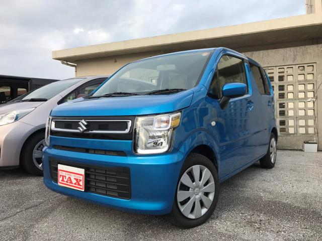 沖縄の中古車 スズキ ワゴンR 車両価格 93万円 リ済込 2017(平成29)年 0.7万km ブルーM