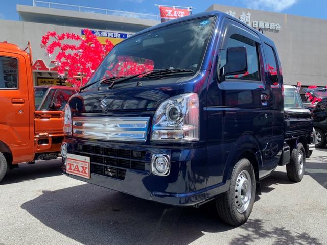 沖縄市 COW COW コザ店 スズキ スーパーキャリイ スーパーキャリー X ブルー 34km 2018(平成30)年
