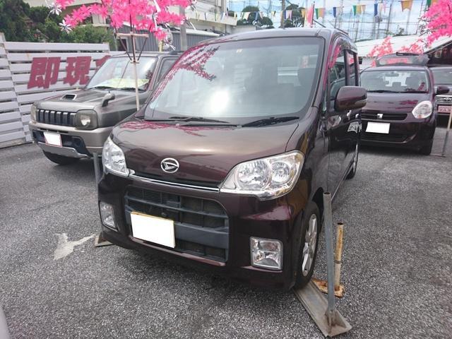 沖縄の中古車 ダイハツ タントエグゼ 車両価格 69万円 リ済別 2011(平成23)年 7.4万km ブラウン