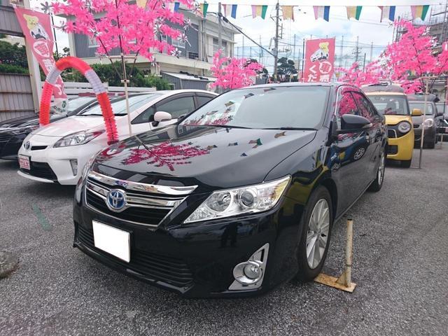 沖縄の中古車 トヨタ カムリ 車両価格 179万円 リ済別 2014(平成26)年 5.0万km ブラック