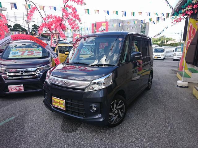 沖縄の中古車 スズキ スペーシアカスタム 車両価格 98万円 リ済別 2014(平成26)年 6.2万km グレー