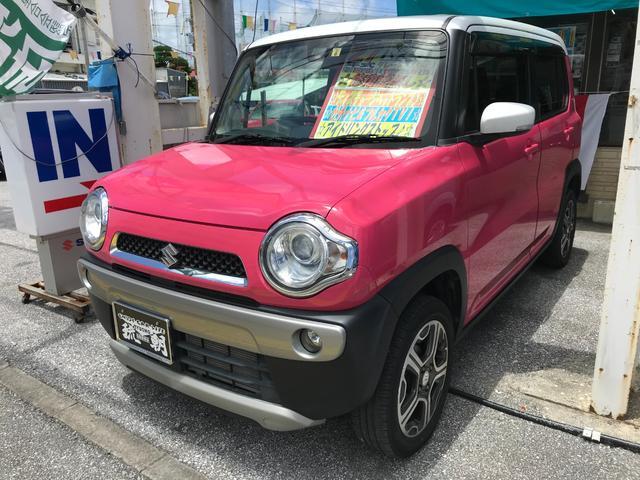 沖縄の中古車 スズキ ハスラー 車両価格 98万円 リ済込 2015(平成27)年 3.9万km ピンクM