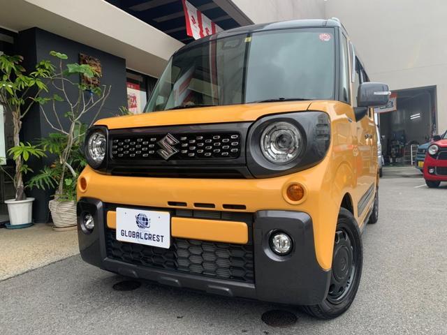 沖縄の中古車 スズキ スペーシアギア 車両価格 164万円 リ済込 2019(令和1)年 1.1万km アクティブイエローII