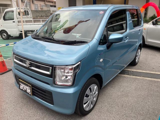 沖縄の中古車 スズキ ワゴンR 車両価格 105万円 リ済込 2019(令和1)年 0.9万km ブルー