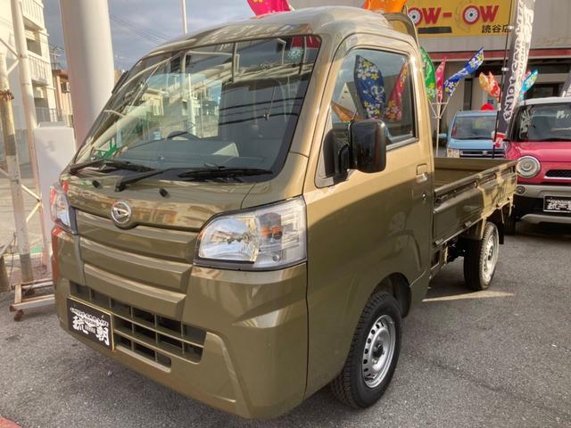 沖縄の中古車 ダイハツ ハイゼットトラック 車両価格 100万円 リ済込 2020(令和2)年 7km オフビートカーキ