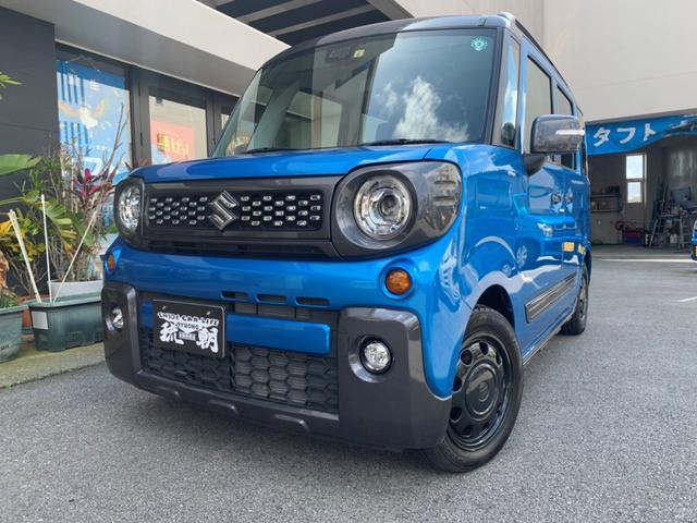 沖縄の中古車 スズキ スペーシアギア 車両価格 149万円 リ済込 2019(令和1)年 2.2万km ブルー