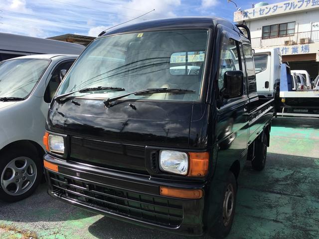沖縄の中古車 ダイハツ ハイゼットトラック 車両価格 45万円 リ済別 平成9年 15.4万km ブラックM