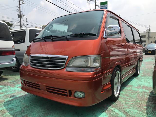 沖縄の中古車 トヨタ ハイエースワゴン 車両価格 75万円 リ済別 平成10年 15.3万km オレンジM