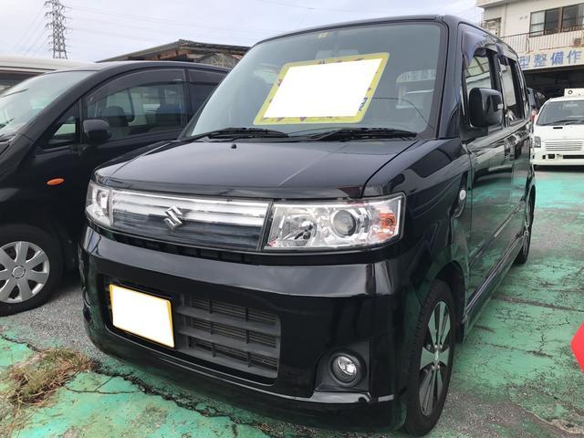 沖縄の中古車 スズキ ワゴンR 車両価格 38万円 リ済別 平成20年 5.1万km ブルーイッシュブラックパール3