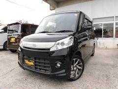 沖縄の中古車 スズキ スペーシアカスタム 車両価格 104万円 リ済込 平成25年 7.2万K ブルーイッシュブラックパール3