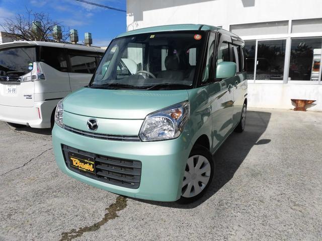 沖縄の中古車 マツダ フレアワゴン 車両価格 74万円 リ済込 平成25年 8.7万km LグリーンM