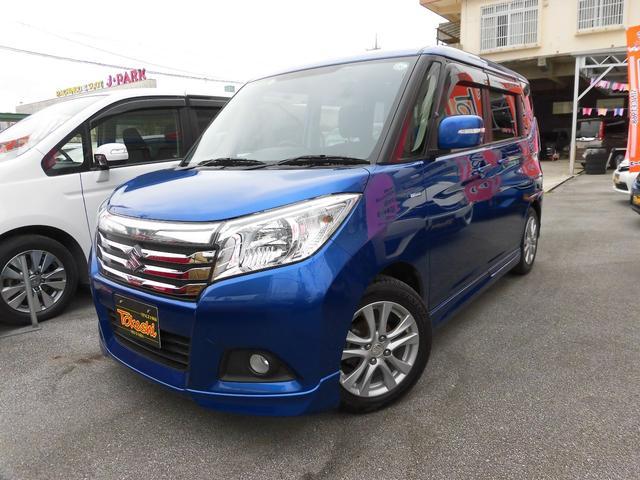 沖縄県の中古車ならソリオ ハイブリッドMZ 両側オートスライドドア デュアルカメラサポート SDナビ・フルセグTV・Bluetooth・バックカメラ