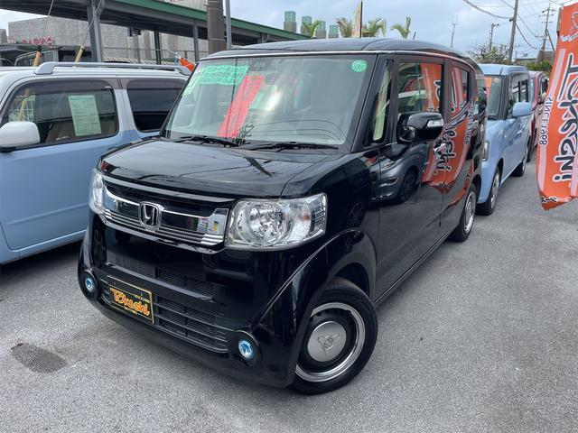 沖縄の中古車 ホンダ N-BOXスラッシュ 車両価格 94万円 リ済込 2015(平成27)年 8.6万km スマートブラック