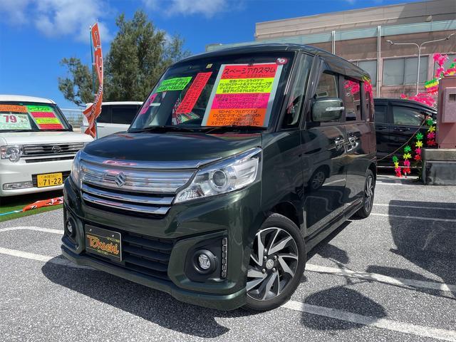 沖縄県の中古車ならスペーシアカスタム XSターボ 後期 両側パワースライドドア デュアルカメラサブレーキポート SDナビ・フルセグTV・DVD・Bluetooth