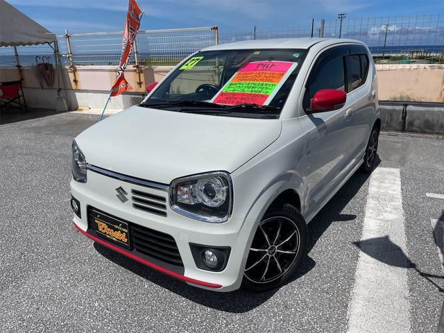 沖縄の中古車 スズキ アルトターボRS 車両価格 78万円 リ済込 2015(平成27)年 8.7万km パールホワイト