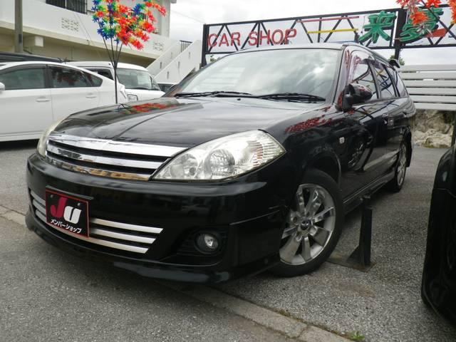 沖縄の中古車 日産 ウイングロード 車両価格 37万円 リ済込 2004(平成16)年 9.8万km ブラック