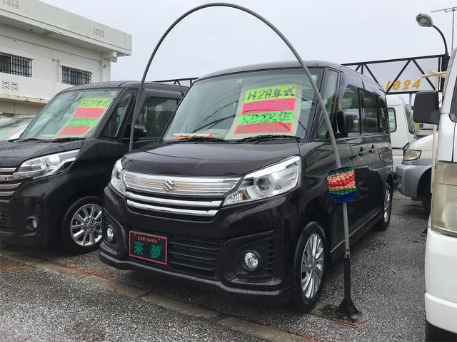 沖縄の中古車 スズキ スペーシアカスタム 車両価格 87万円 リ済込 2016(平成28)年 6.7万km ブラウン