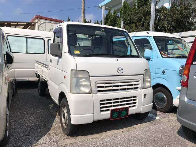 沖縄の中古車 マツダ スクラムトラック 車両価格 38万円 リ済込 2004(平成16)年 14.2万km ホワイト